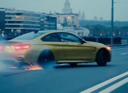 宝马M4—莫斯科市的疯狂驾驶