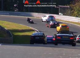 纽博格林赛道上的危险情况--糟糕驾驶 碰撞和北赛道上的不安全情况