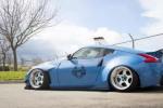淡蓝色的日系淑女情怀,日产370Z宽体改装案例
