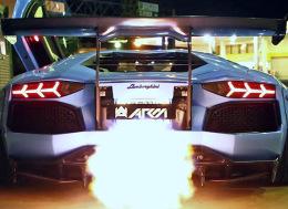 疯狂的喷火!兰博基尼Aventador LP720-4 Ft. LB Walk-Armytrix-Airrex-Forgiato