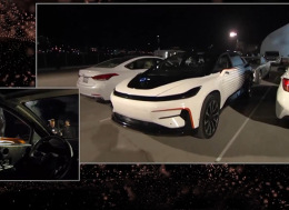 Faraday Future的首款量产车FF 91在2017国际消费电子展上发布—重要时刻