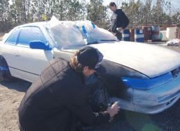 尼桑240 SX价值100美元的涂装—怎么样正确地为车子喷涂